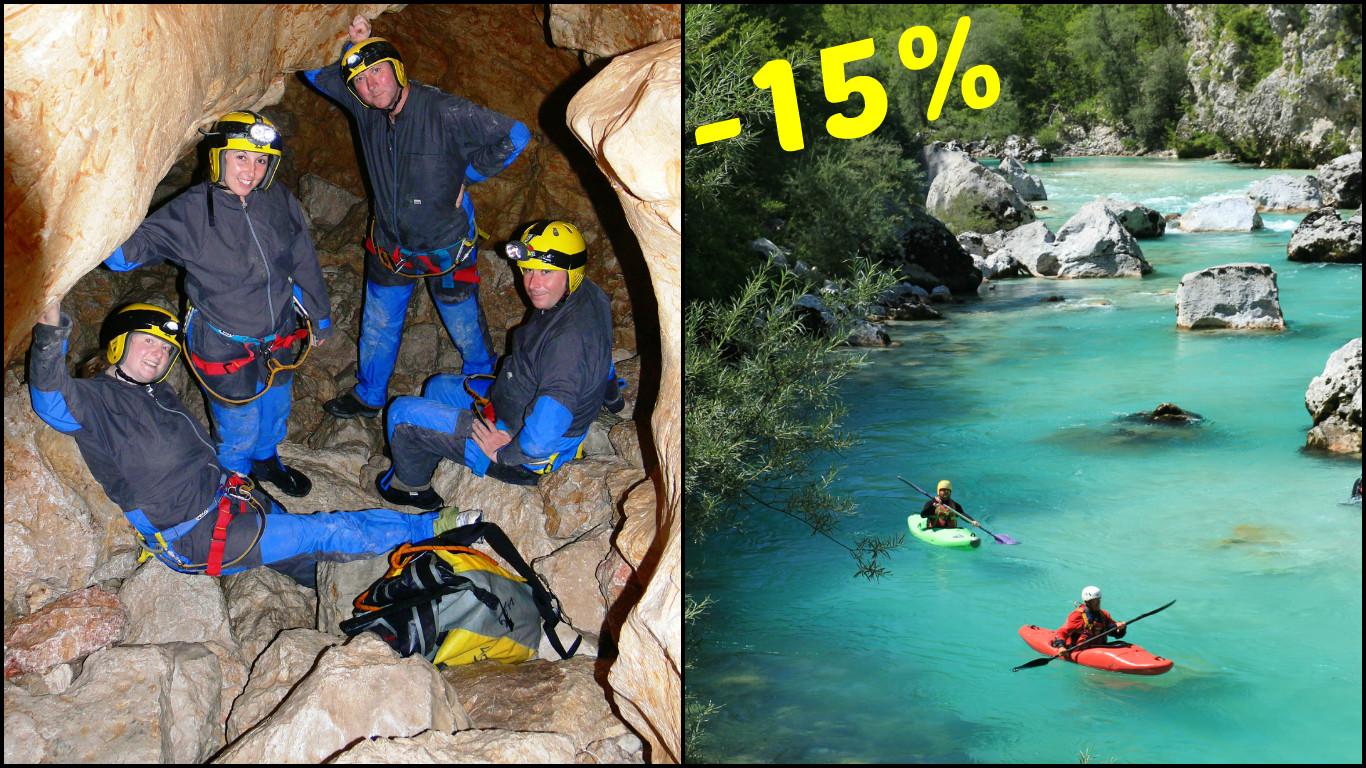 Kayak-caving